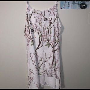 Dresses & Skirts - White dress with flowers